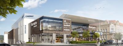 Stavební práce na novém obchodním centru v Prešově jsou v plném proudu